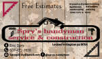 Spry's handyman service & construction